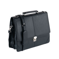View more details about Falcon International Leatherette Flap Over Briefcase - 2584