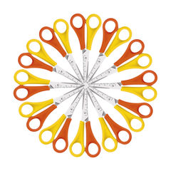 View more details about Westcott Left Handed Scissors 130mm Yellow/Orange (Pack of 12) E-21593 00