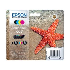 View more details about Epson Starfish 603 CMYK Ink Multipack C13T03U64010