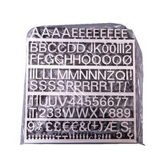 View more details about Announce Polished Silver 19mm Peg Letters, Pack of 234 - ANNTVX-19/PS