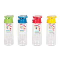 View more details about 750ml Assorted Reusable Infuser Water Bottles, Pack of 12 - 20097