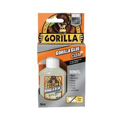 View more details about Gorilla Glue 50ml Clear (Bonds stone, wood, metal, glass, ceramics and more) 1244002