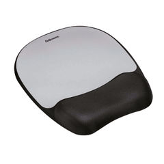 View more details about Fellowes Memory Foam Mouse Pad Black/Silver 9175801