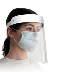 View more details about Superguardpro Visor White (Pack of 4) WX07663