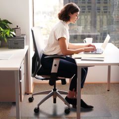 View more details about Floortex 1210 x 1520mm Rectangular Carpet Chair Mat - 1115225EV