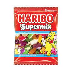 View more details about Haribo 140g Supermix Bags (Pack of 12) - 727730