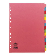 View more details about Concord A4 15-Part Multicoloured Dividers - 71599/J15