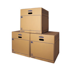 View more details about Bankers Box SmoothMove 446 x 446 x 446mm Brown Standard Moving Boxes, Pack of 10 - 6207401