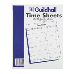 View more details about Exacompta Guildhall Work Time Sheet Saturday - Friday 254x203mm (Pack of 100) 1653