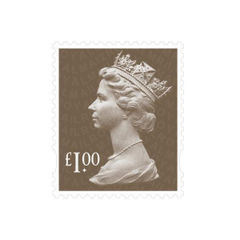 View more details about Royal Mail £1.00 Postage Stamp Sheet (Sheet of 25) – D100