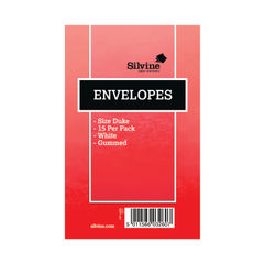 View more details about Silvine White Duke Pre-Glued Envelopes (Pack of 36) – 317