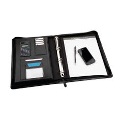 View more details about Monolith Black Zipped Meeting Folder - 2827