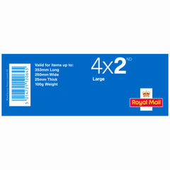 View more details about Royal Mail 2nd Class Large Stamps (Book of 4) – 2C4L SINGLE