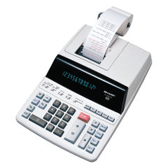 View more details about Sharp White 12-Digit Fluorescent Display Printing Calculator EL2607PGY