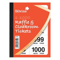 View more details about Cloakroom and Raffle Tickets 1-1000 (Pack of 6) CRT1000
