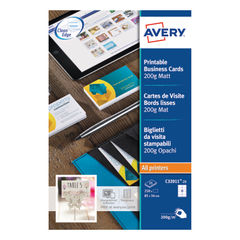 View more details about Avery 85 x 54mm Matte White Printable Business Cards, Pack of 250 - C32011-25