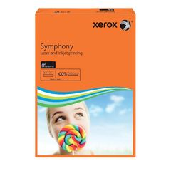 View more details about Xerox Symphony Orange A4 Paper, 80gsm (Pack of 500) - 003R93953