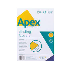 View more details about Fellowes Apex A4 Lightweight PVC Covers Clear (Pack of 100) 6500001
