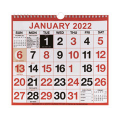 View more details about Wirebound Month To View Calendar 249x231mm 2022 KFYC2222