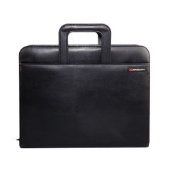 View more details about Monolith Drop Handle Leather Look Ring Binder Black 2791