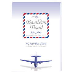 View more details about Basildon Bond Airmail Pad 148 x 210mm Blue (Pack of 10) 100104698