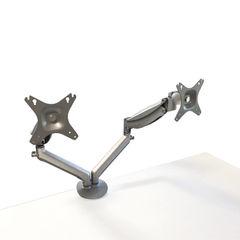 View more details about Contour Ergonomics Silver Double Monitor Arm – CE77693