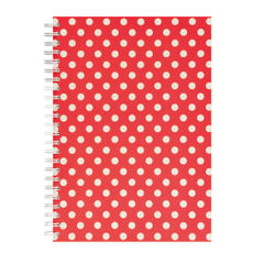 View more details about Go Stationery Red Polka Dot A5 Notebook - 5NC400