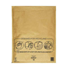 View more details about Mail Lite Gold K/7 350 x 470mm Bubble Lined Postal Bags, Pack of 50 - MLGK/7