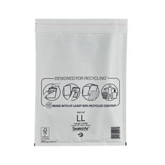 View more details about Mail Lite Bubble Lined Postal Bag Size LL 230x330mm White (Pack of 50) MAIL LITE LL