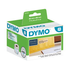 View more details about Dymo 89 x 36mm Transparent LabelWriter Address Labels, Pack of 260 - S0722410