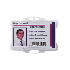 View more details about Durable Single Security Swipe Card Holders, Pack of 50 - 999108011