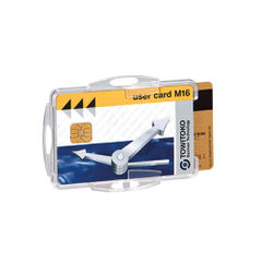 View more details about Durable 54 x 85mm Duo Security Swipe Card Holders, Pack of 50 - 999108000