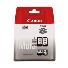 View more details about Canon PG-545/CL-546 Multipack Ink Cartridges (Pack of 2) - 8287B005