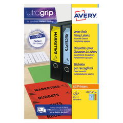 View more details about Avery Lever Arch Spine Label 200 x 60mm (Pack of 80) L7171A-20