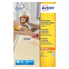 View more details about Avery Removable Mini Laser Labels, 35.6 x 16.9mm, (2000 Pack) - L4732REV-25