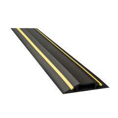 View more details about D-Line floor Cable Cover Hazard 80mm 1.8m c/w connectors Yellow/Black FC83H