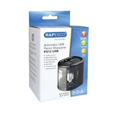 View more details about Rapesco USB Electric Pencil Sharpener - 1449
