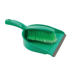 View more details about Green Dustpan and Brush Set - 102940GN