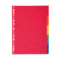 View more details about Exacompta Recycled A4 5-Part Maxi-Bright Dividers – 2105E