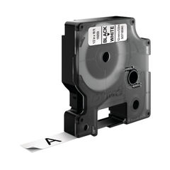 View more details about Dymo D1 Permanent Label Tape Black on White - S0718060