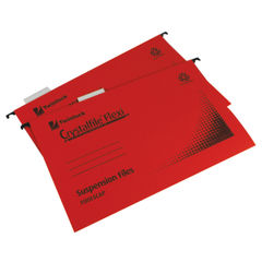 View more details about Rexel Crystalfile Flexi Foolscap 15mm Red Suspension Files, Pack of 50 - 3000042