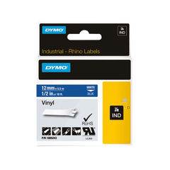 View more details about Dymo 18444 Rhino Black on White Label Printer Tape 12mm S0718600