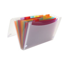 View more details about Oxford A4 Clear 13-Part Expanding File - 100208980