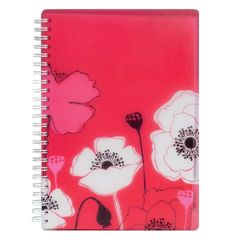 View more details about SKETCHED FLORAL A5 NOTEBOOK POPPY