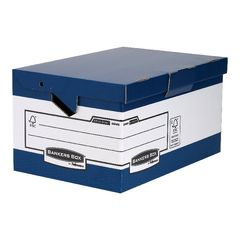 View more details about Bankers Box Blue/White Heavy Duty Maxi Storage Box, Pack of 10 - 0048901