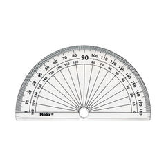 View more details about Helix 10cm 180 Degree Protractor Clear (Pack of 50) H02040