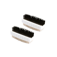 View more details about White Plastic Nail Brushes, Pack of 2 - VOW/CL.190/2