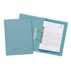 View more details about Exacompta Guildhall Transfer File 285gsm Foolscap Blue (Pack of 25) 346-BLUZ