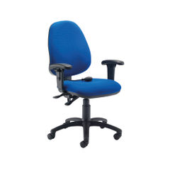 View more details about First Blue High Back Posture Office Chair