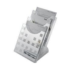 View more details about Helit Desktop 3 Pocket Literature Holder A4 H61027
